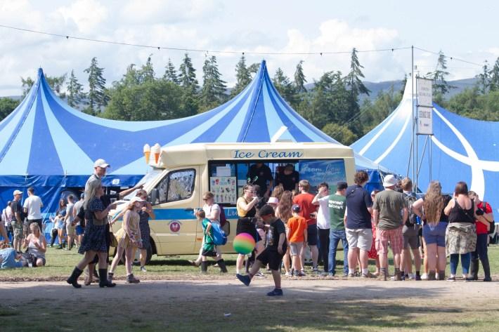 Ice cream in demand at Belladrum festival