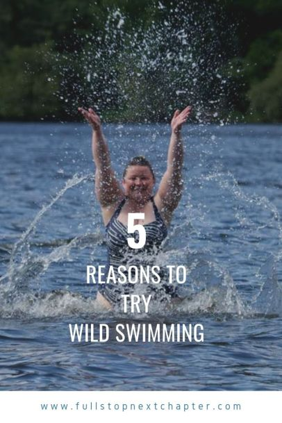 Pinterest Graphic - 5 reasons to try wild swimming