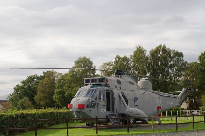 Seaking Helicopter glamping, Heart 200, Scotland