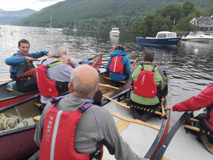 Wee Adventures, Aberfeldy. Adult group out canoeing
