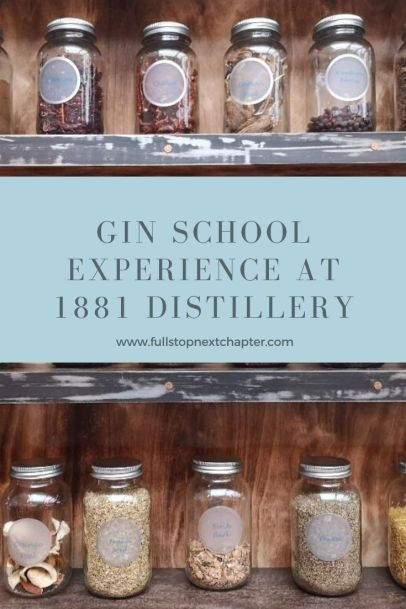 Pin for later. 1881 Distillery, gin school experience, Scotland