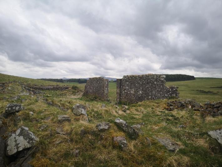 Farm ruins on the Wallace Road - little walks from home during lockdown
