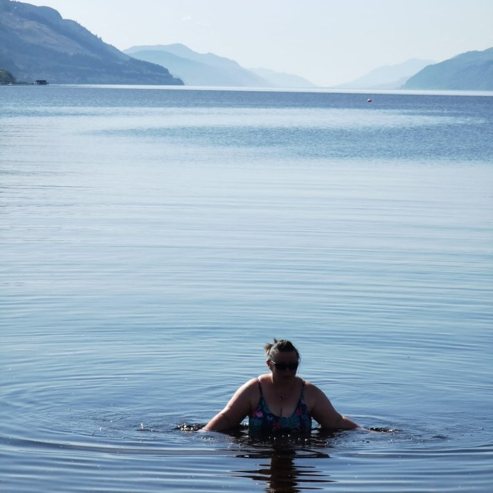 Image of: Wild swimming in Loch Ness