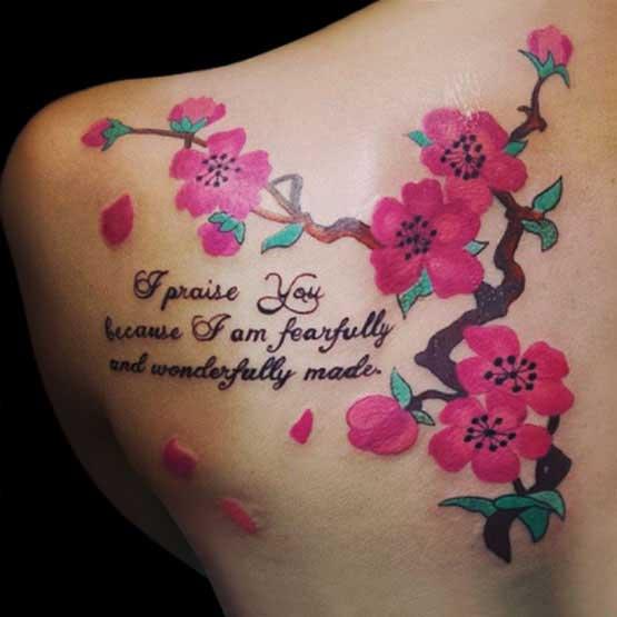 Cherry Blossom Tattoo Designs For Girls