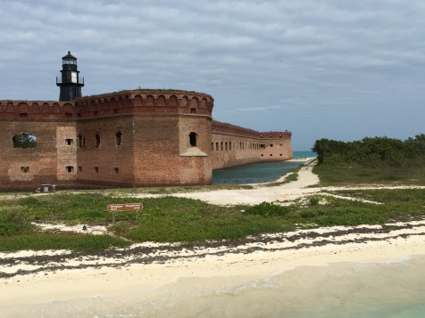Fort Jefferson, despite being in the middle of the Gulf of Mexico, has a moat