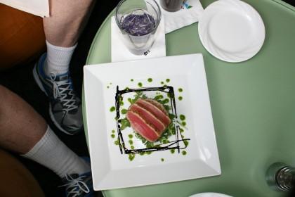 Mike's seared tuna.