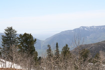 Looking out from Powder Mountain