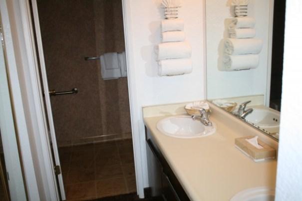 Double sink vanity.