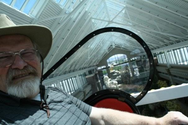 Grumpy old man on a ferris wheel