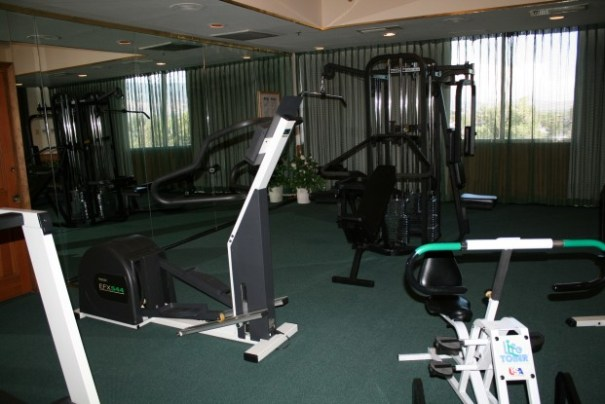 Our workout room.  We hope to see it a few times for muscle tone.