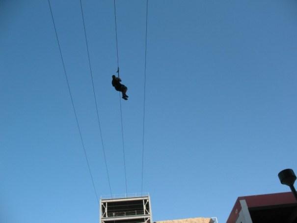Zip liner at Fremont Street.
