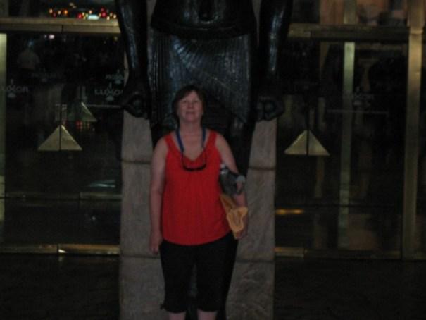Pretty woman blocked my shot of a neat statue.