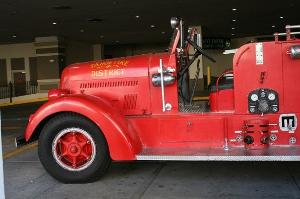 An old Firetruck at the Silver Legacy