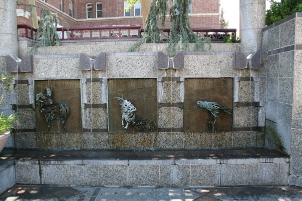 More fountains.