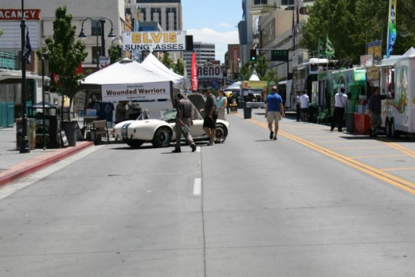 Another street festival.  Reno is good at drawing vendors and crowds.  The Shelby is a raffle, 6 tickets for $50.