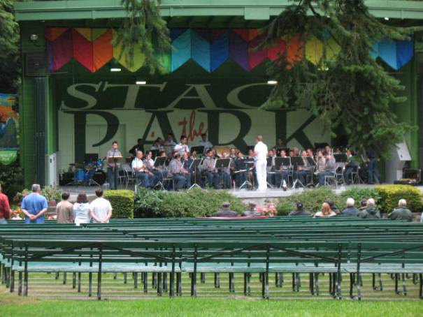 Orchestra in the park.