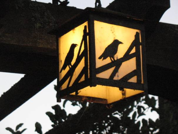 Crow and Gate lamp.