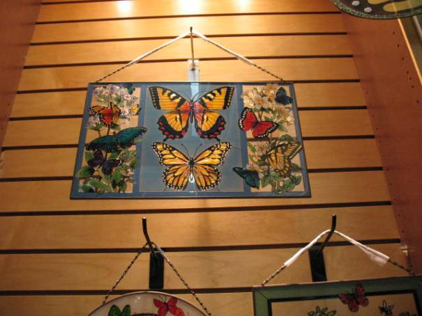 Butterfly in stained glass, very nice, $85.00