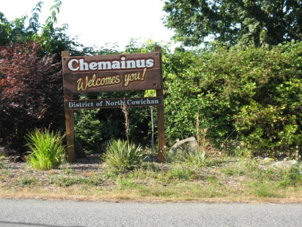 Chemainus city sign.