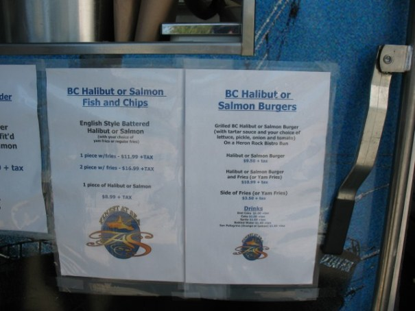 Menu, we ordered the 2 piece and split it.  Finest At Sea,