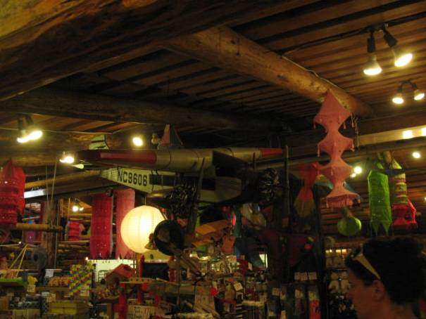 Inside the old country store.