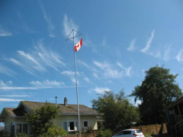 Like this one of the flag with the clouds in back.