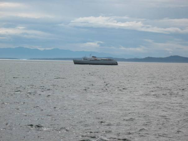 The Coho Ferry going into the Strait of Juan de Fuca.