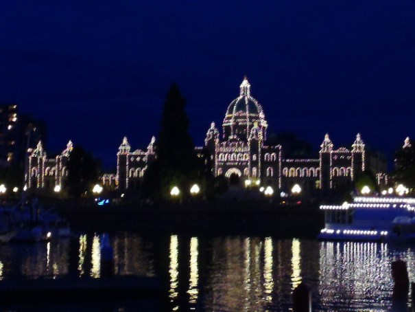 Parliament, lit up in honor of the Lanterns of Courage lighting ceremony.