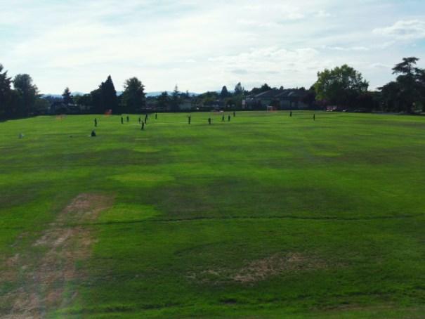 Cricket Match in progress at St. Michael's University School.