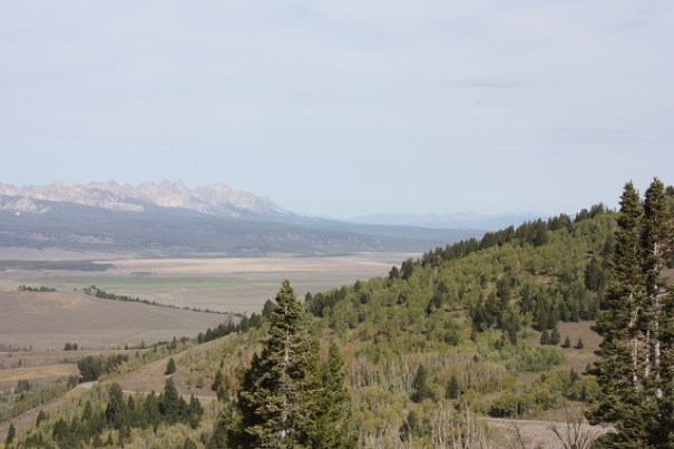 Sawtooth range in the distance.