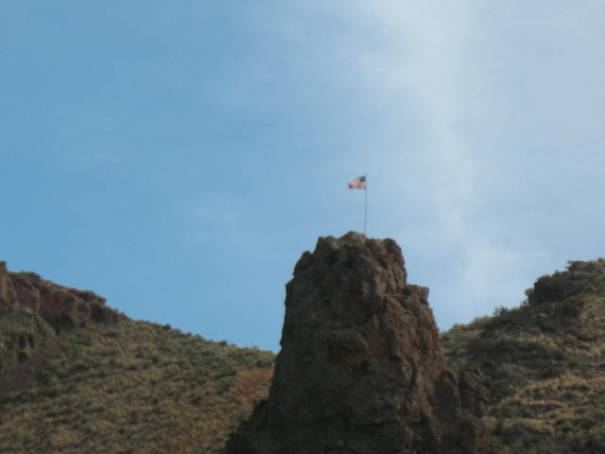 A stiff climb to fly this flag!  I zoomed in to get the photo, it is quite high.