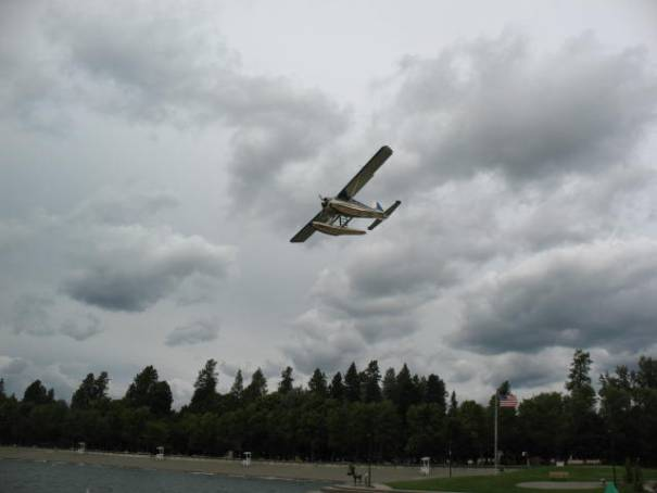 A float plane closer than I liked.