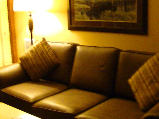 Comfortable couch.