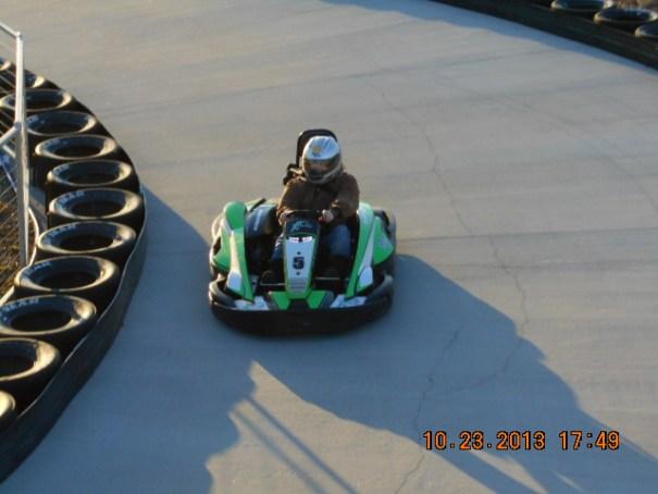 Lex keeping the turn tight.