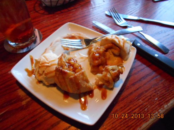 Edie and I split an apple pie thing, it was so good.