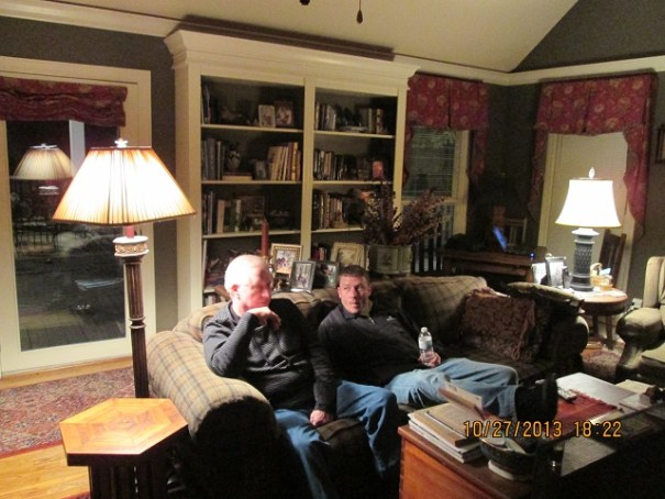 Cousin Wally and his son Hank in the den.