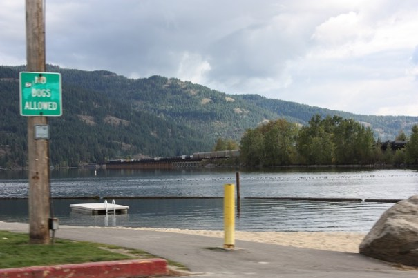 A small inlet at the far end of Lake Pend Oreille.