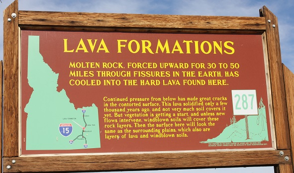 Lava sign and map.  Nice explanation.