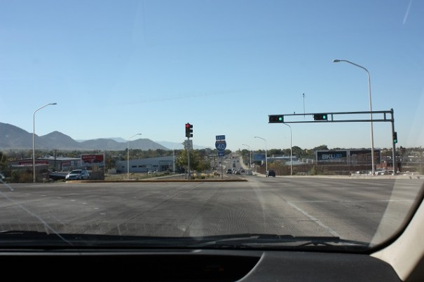 Driving out of Albuquerque.