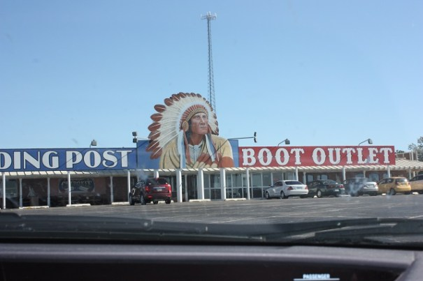 Cherokee Trading Post that was fun.  Just outside Clinton, Oklahoma.