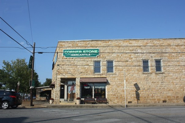 Stone buildings are very common in Arkansas.