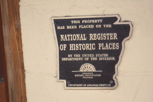 Dr Thompson at work.  He got 17 buildings in Hardy added to the National Register, all of them made of stone.