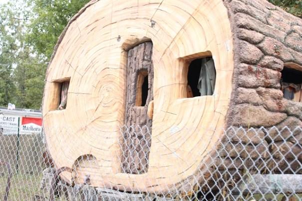 In the Ozarks we found the Flintstones travel trailer.