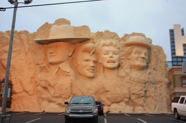 Mount Rushmore look alike.