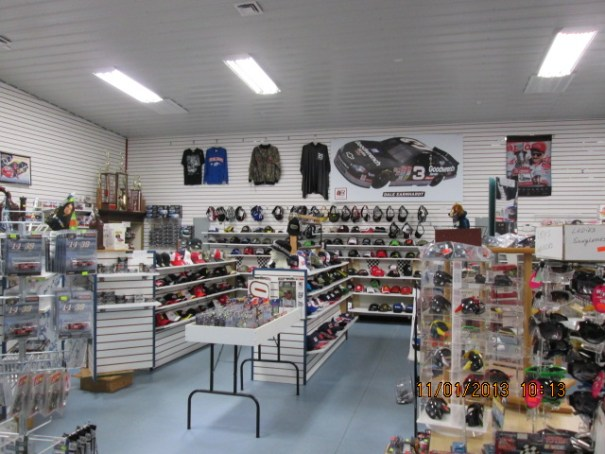 This was a great Nascar Store.  He had a huge inventory.
