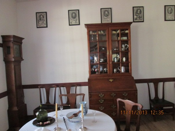 This was the nice dining room, china, silver, wall clock.