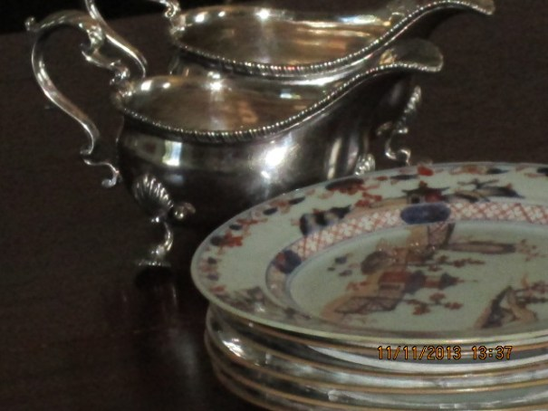 Silver and china of the Randolph's.