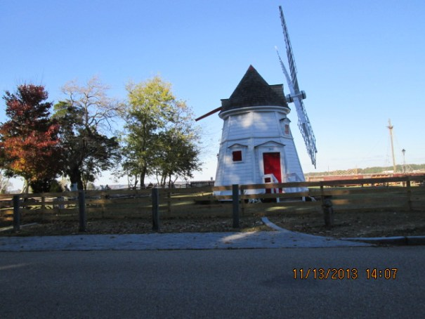 Edie loved this Windmill with a red door.