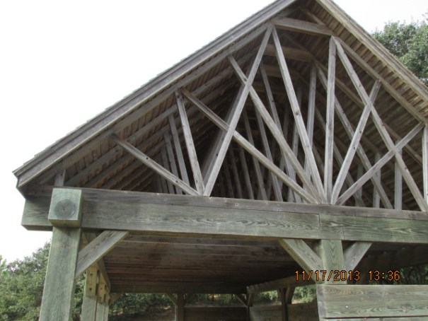 I was fascinated by the trusses of this structure.