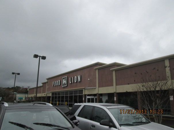 The Food Lion where I bought tonight's groceries.